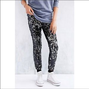 U/O Silence and Noise Sequined Pants Legging XS